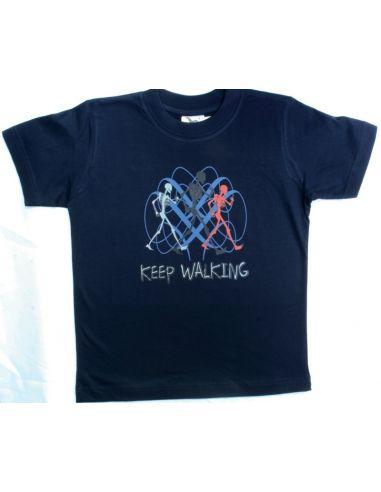 Majica za dečke Keep walking tamno plava