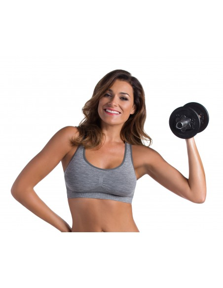 Ženski športni top Active fit - melirana